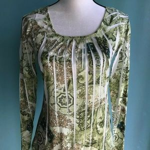 maurices Top Long Sleeve Many Colors Green Size M.